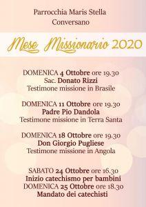 2020-10-06 Mese missionario